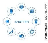 shutter icons. trendy 8 shutter ... | Shutterstock .eps vector #1292468944