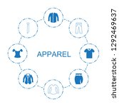 8 apparel icons. trendy apparel ... | Shutterstock .eps vector #1292469637