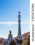 barcelona   december 2018 ... | Shutterstock . vector #1292476384