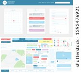 ui ux app kit. set web... | Shutterstock .eps vector #1292476921