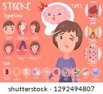 cute stroke infographic | Shutterstock .eps vector #1292494807