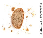 bread toast  isolated on  white ... | Shutterstock . vector #1292494954