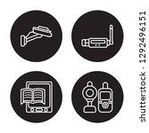 4 linear vector icon set  ... | Shutterstock .eps vector #1292496151