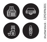 4 linear vector icon set   fax... | Shutterstock .eps vector #1292496301
