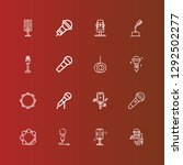 editable 16 sing icons for web... | Shutterstock .eps vector #1292502277