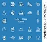 editable 22 industrial icons... | Shutterstock .eps vector #1292502391