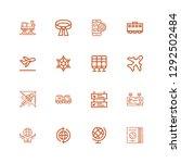 editable 16 plane icons for web ... | Shutterstock .eps vector #1292502484