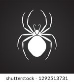 spider insect icon on black... | Shutterstock .eps vector #1292513731