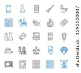 domestic icons set. collection... | Shutterstock .eps vector #1292520007