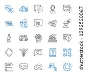 help icons set. collection of... | Shutterstock .eps vector #1292520067