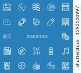 editable 22 disk icons for web... | Shutterstock .eps vector #1292520997