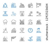 storm icons set. collection of... | Shutterstock .eps vector #1292523604