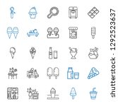 milk icons set. collection of... | Shutterstock .eps vector #1292523637