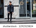 handsome and fashionable indian ...   Shutterstock . vector #1292525824