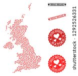 mosaic map of united kingdom...   Shutterstock .eps vector #1292526331