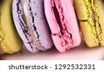 colorful french macarons or... | Shutterstock . vector #1292532331