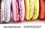 colorful french macarons or... | Shutterstock . vector #1292532337