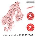 collage map of scandinavia... | Shutterstock .eps vector #1292532847