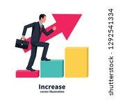 business growing. businessman...   Shutterstock .eps vector #1292541334