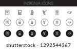 insignia icons set. collection... | Shutterstock .eps vector #1292544367