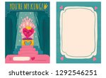 cute vector greeting card for... | Shutterstock .eps vector #1292546251