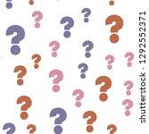 question mark education  school ... | Shutterstock .eps vector #1292552371