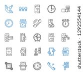 dial icons set. collection of... | Shutterstock .eps vector #1292554144