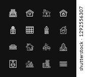 editable 16 residential icons... | Shutterstock .eps vector #1292556307