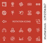 editable 22 rotation icons for... | Shutterstock .eps vector #1292556367