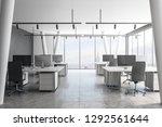 bright coworking office... | Shutterstock . vector #1292561644