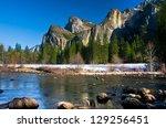 bridalveil waterfalls in... | Shutterstock . vector #129256451
