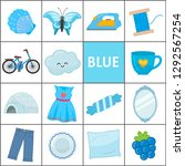 learn the primary colors. blue. ... | Shutterstock .eps vector #1292567254