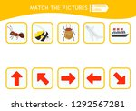 matching children educational... | Shutterstock .eps vector #1292567281
