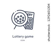 linear lottery game icon from... | Shutterstock .eps vector #1292601304