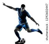 one caucasian soccer player man ... | Shutterstock . vector #1292602447