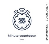 linear minute countdown icon... | Shutterstock .eps vector #1292609074