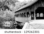 Covered Bridge Over A Cal Creek.