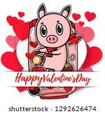 valentine vector piglet cute...   Shutterstock .eps vector #1292626474