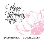happy valentines day  hand... | Shutterstock .eps vector #1292628154
