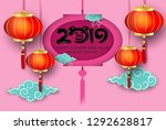 2019 happy chinese new year....   Shutterstock .eps vector #1292628817