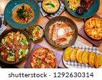 pizza menu in restaurant | Shutterstock . vector #1292630314