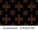 collection of songket batik... | Shutterstock .eps vector #1292631787