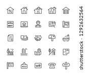 thin line icons set of real...   Shutterstock .eps vector #1292632564