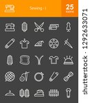 sewing line icons | Shutterstock .eps vector #1292633071