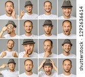 set of young man's portraits... | Shutterstock . vector #1292636614