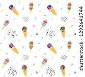 vector ice cream cone seamless...   Shutterstock .eps vector #1292641744