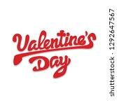 happy valentines day  beautiful ... | Shutterstock .eps vector #1292647567