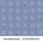 spiderweb set  different type... | Shutterstock .eps vector #1292650141