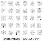 spiderweb set  different type... | Shutterstock .eps vector #1292650144