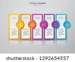 5 steps timeline infographic... | Shutterstock .eps vector #1292654557